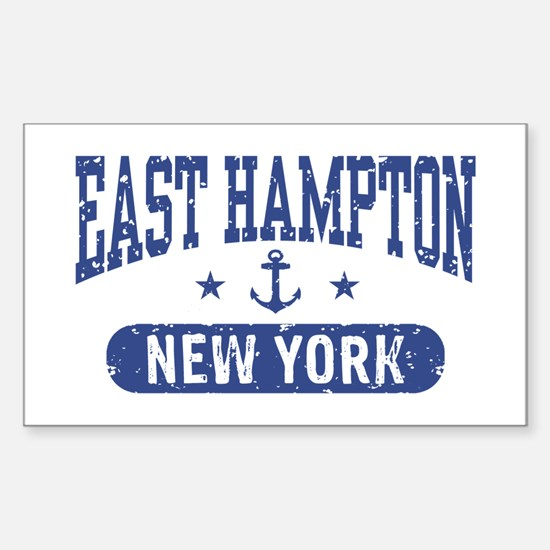 East Hampton New York Sticker (Rectangle)