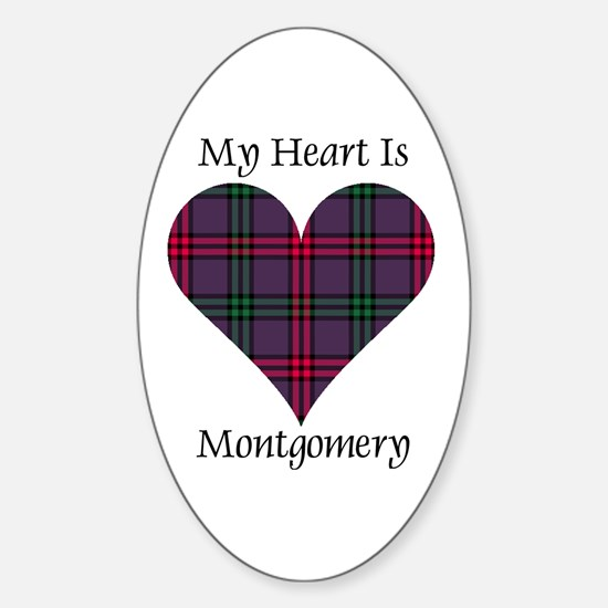 Heart - Montgomery Sticker (Oval)