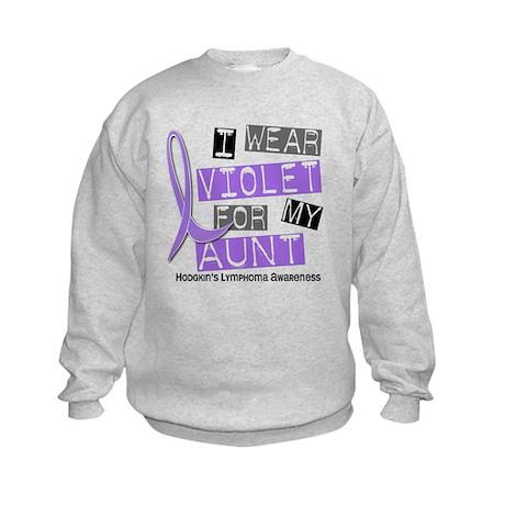 I Wear Violet 37 Hodgkin's Lymphoma Kids Sweatshir
