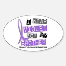 I Wear Violet 37 Hodgkin's Lymphoma Decal
