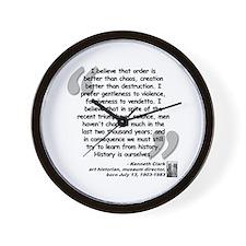Clark Believe Quote Wall Clock