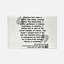 Clark Believe Quote Rectangle Magnet