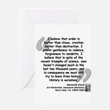 Clark Believe Quote Greeting Card
