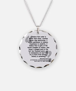 Clark Believe Quote Necklace