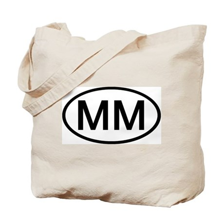 MM - Initial Oval Tote Bag