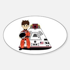 Spaceman and Space Capsule Decal