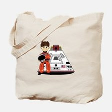Spaceman and Space Capsule Tote Bag