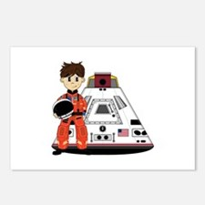Spaceman and Space Capsule Postcards (Pk of 8)