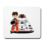 Spaceman and Space Capsule Mousepad