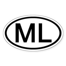 ML - Initial Oval Oval Decal