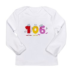 Happy Number 106 Long Sleeve Infant T-Shirt