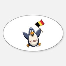 Belgium Penguin Sticker (Oval)