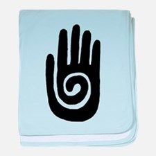 Hopi Hand Rock Painting baby blanket