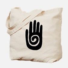 Hopi Hand Rock Painting Tote Bag