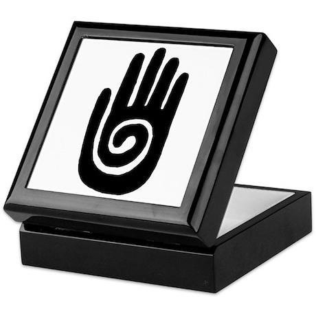 Hopi Hand Rock Painting Keepsake Box