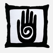 Hopi Hand Rock Painting Throw Pillow