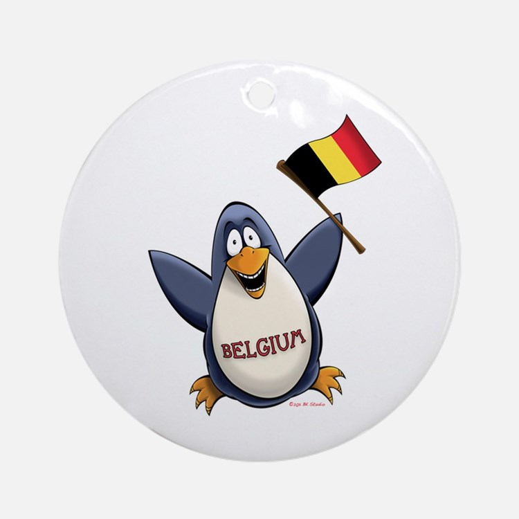 Belgium Penguin Ornament (Round)