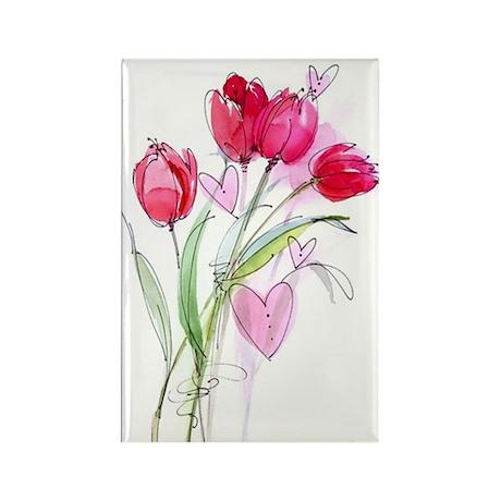 Tulip2 Rectangle Magnet