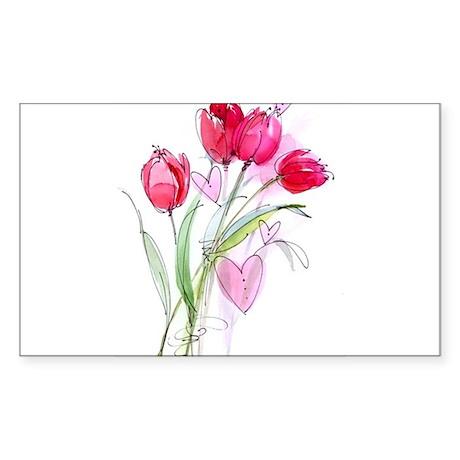 Tulip2 Rectangle Sticker