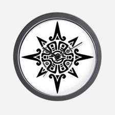 8-Point Incan Star Symbol Wall Clock