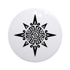 8-Point Incan Star Symbol Ornament (Round)