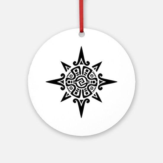 8-Point Incan Star Symbol Ornament (Round)