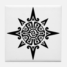 8-Point Incan Star Symbol Tile Coaster