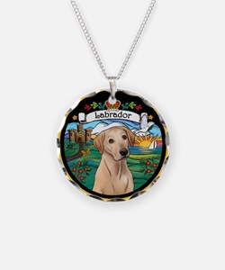 Coat/Arms - Yellow Lab Necklace