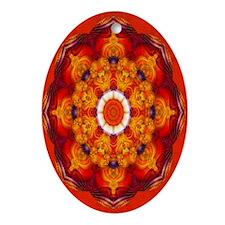"""Ring of Power"" Fractal Art Oval Ornament"