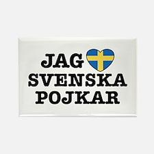 Jag Svenska Pojkar Rectangle Magnet
