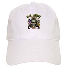 US Army MP Skull Military Pol Baseball Cap