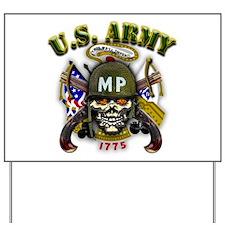 US Army MP Skull Military Pol Yard Sign