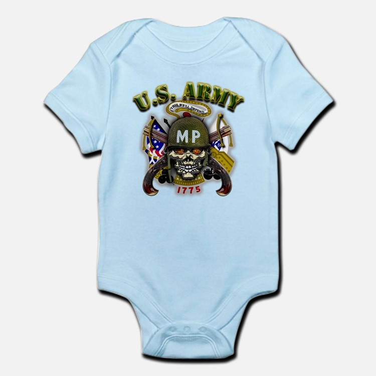 US Army MP Skull Military Pol Infant Bodysuit