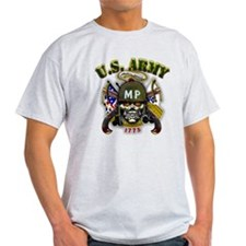 US Army MP Skull Military Pol T-Shirt