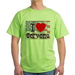 I Love Cervone Green T-Shirt
