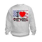 I Love Cervone Kids Sweatshirt