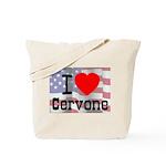 I Love Cervone Tote Bag