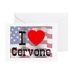 I Love Cervone Greeting Cards (Pk of 10)