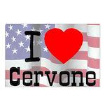 I Love Cervone Postcards (Package of 8)