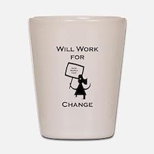 Work for Change Shot Glass