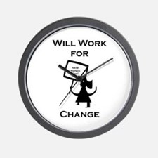 Work for Change Wall Clock