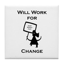 Work for Change Tile Coaster
