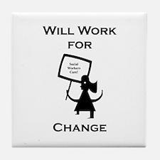 Work for Change Tile Coaster