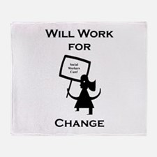 Work for Change Throw Blanket