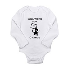 Work for Change Long Sleeve Infant Bodysuit
