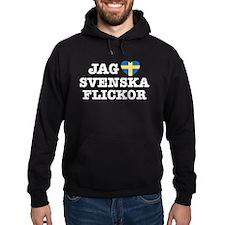 Jag Svenska Flickor Hoodie
