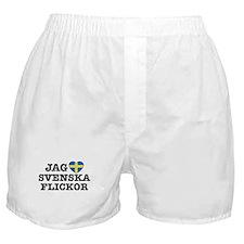 Jag Svenska Flickor Boxer Shorts