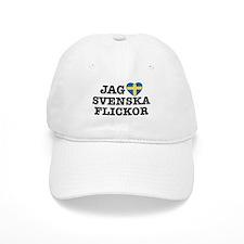 Jag Svenska Flickor Baseball Cap