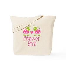Flower Girl Ladybug Tote Bag