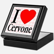 I Love Cervone Mosaic Hearts Keepsake Box